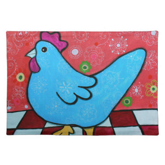 FOLK ART AMERICANA ROOSTER PLACEMAT