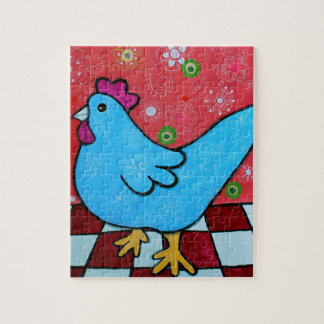 FOLK ART AMERICANA ROOSTER PUZZLES