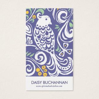 Folk Art Business Card | Purple