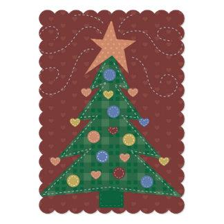 Folk art Christmas tree 13 Cm X 18 Cm Invitation Card