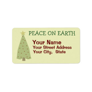 Folk Art Christmas Tree Address Labels