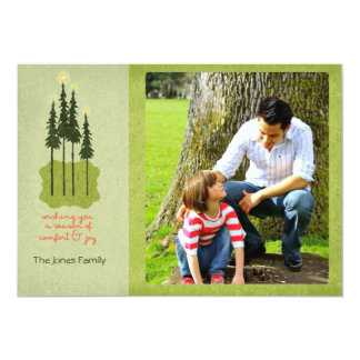 Folk Art Comfort and Joy Christmas Photo Cards 13 Cm X 18 Cm Invitation Card