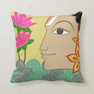 Folk art dual-side Cushion