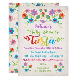 Folk Art Embroidery Mexcian Fiesta Baby Shower Card