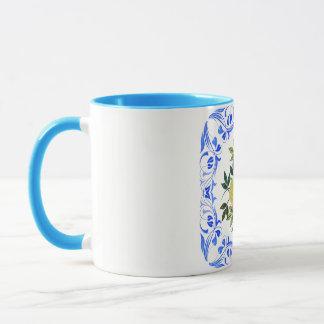 Folk Art Floral Blue Combo Mug