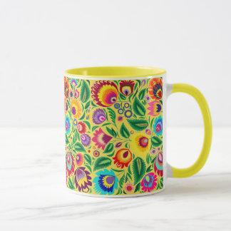 Folk Art Floral Garden Combo Mug