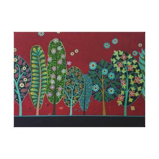 Folk art Forest II Canvas Print