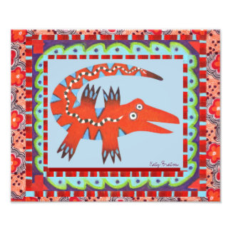 Folk Art Gator Photo Print