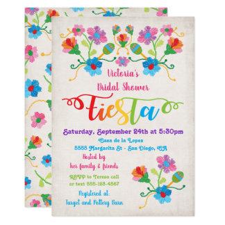 Folk Art Mexcian Fiesta Bridal Shower Invitation