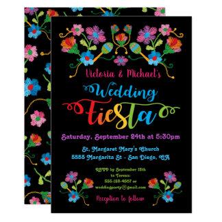 Folk Art Mexcian Fiesta Wedding Invitation