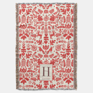 Monogram Holiday Blankets