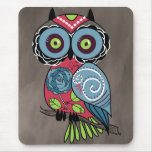 Folk Art Owl - Gorgeous! Mouse Pad