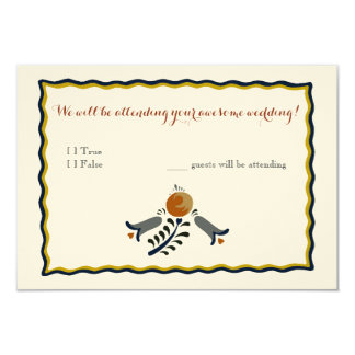 Folk Art Reply Card