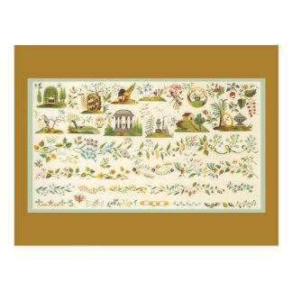 Folk Art Sampler Postcard