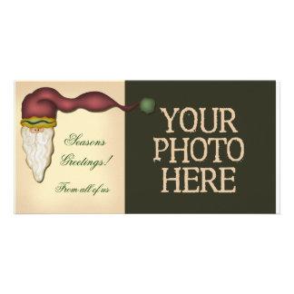 Folk Art Santa Personalised Photo Card
