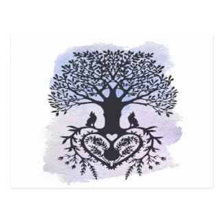 Folk Art Tree of Life Postcard