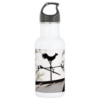 Folk Art Weather Vane on Metal Barn Roof 532 Ml Water Bottle