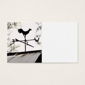 Folk Art Weather Vane on Metal Barn Roof Business Card