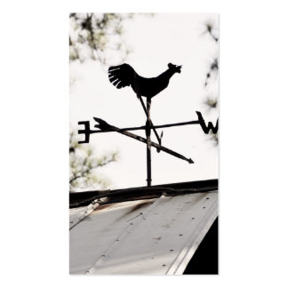 Folk Art Weather Vane on Metal Barn Roof Business Card Templates