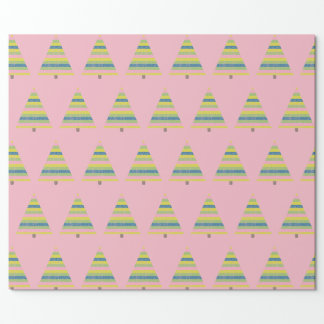 Folk Christmas Tree Wrapping Paper