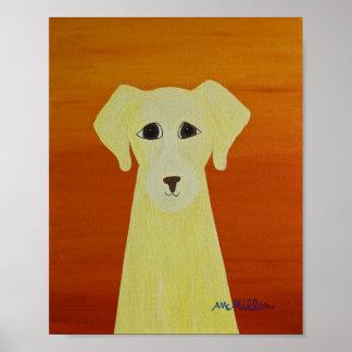 folk dog #164 8x10 print