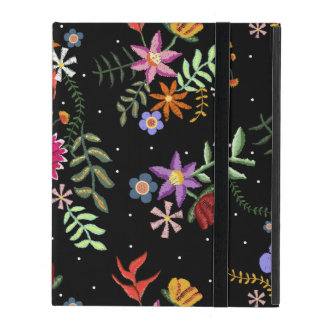 Folk embroidering iPad cover