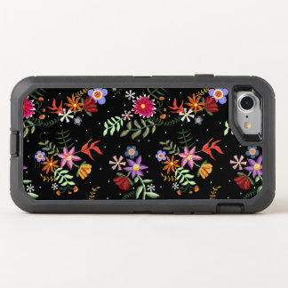 Folk embroidering OtterBox defender iPhone 8/7 case