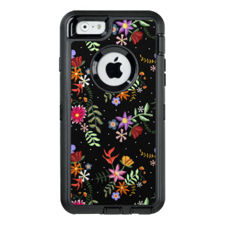 Folk embroidering OtterBox defender iPhone case