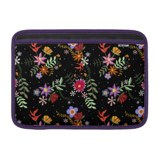 Folk embroidering sleeve for MacBook air
