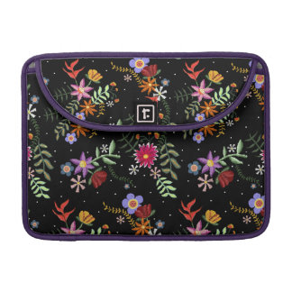 Folk embroidering sleeve for MacBook pro