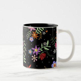 Folk embroidering Two-Tone coffee mug