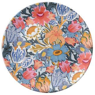 Folk Floral Garden Plate