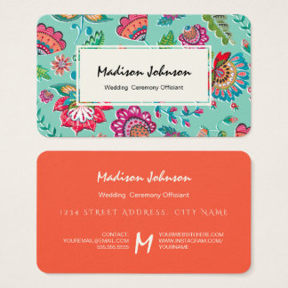 Folk Flowers | Monogram Custom | Business Cards