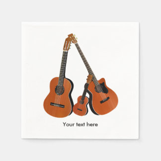 Folk Guitar Acoustic Bass and Ukulele Disposable Napkin