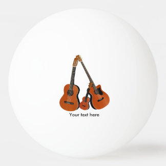 Folk Guitar Acoustic Bass and Ukulele Ping Pong Ball