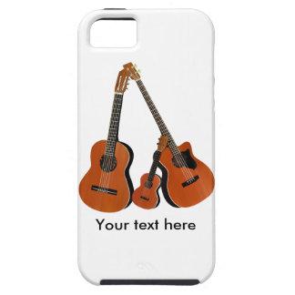 Folk Guitar Acoustic Bass and Ukulele Tough iPhone 5 Case