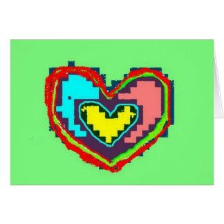 Folk Heart Card
