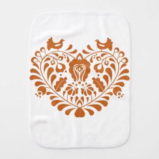 Folk Hearth Burp Cloth
