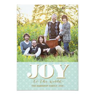 Folk Joy Christmas Card Holiday Photo Card 13 Cm X 18 Cm Invitation Card