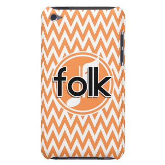 Folk Music Orange and White Chevron Barely There iPod Covers