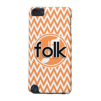 Folk Music Orange and White Chevron iPod Touch 5G Case
