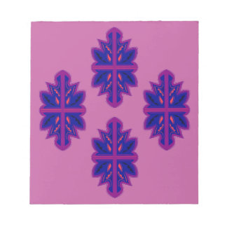 Folk ornaments purple notepad