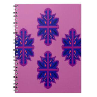 Folk ornaments purple spiral notebook