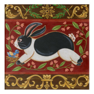 Folk Rabbit Acrylic Wall Art