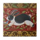 Folk Rabbit Tile