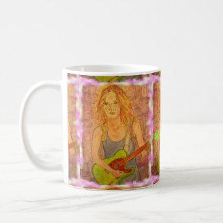 folk rock girl Art Mug
