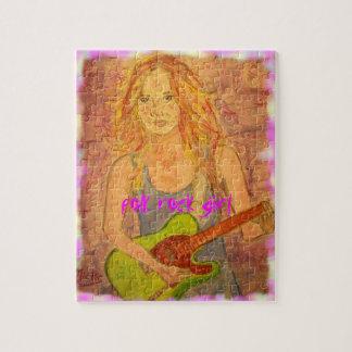 folk rock girl art puzzles