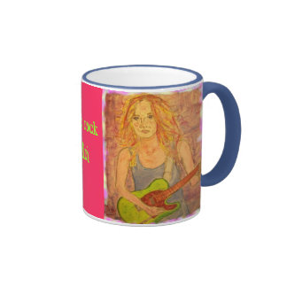 folk rock girl coffee mug