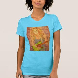 folk rock girl playin' electric tshirts