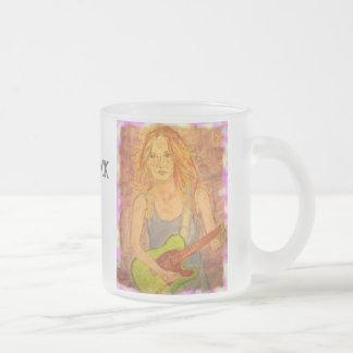 folk rock girl popart mug